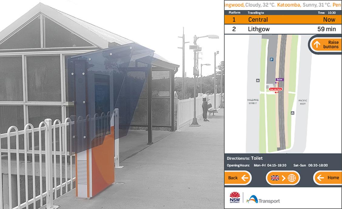 NSW Transport digital wayfinder