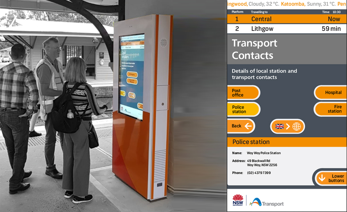 NSW Transport digital wayfinding