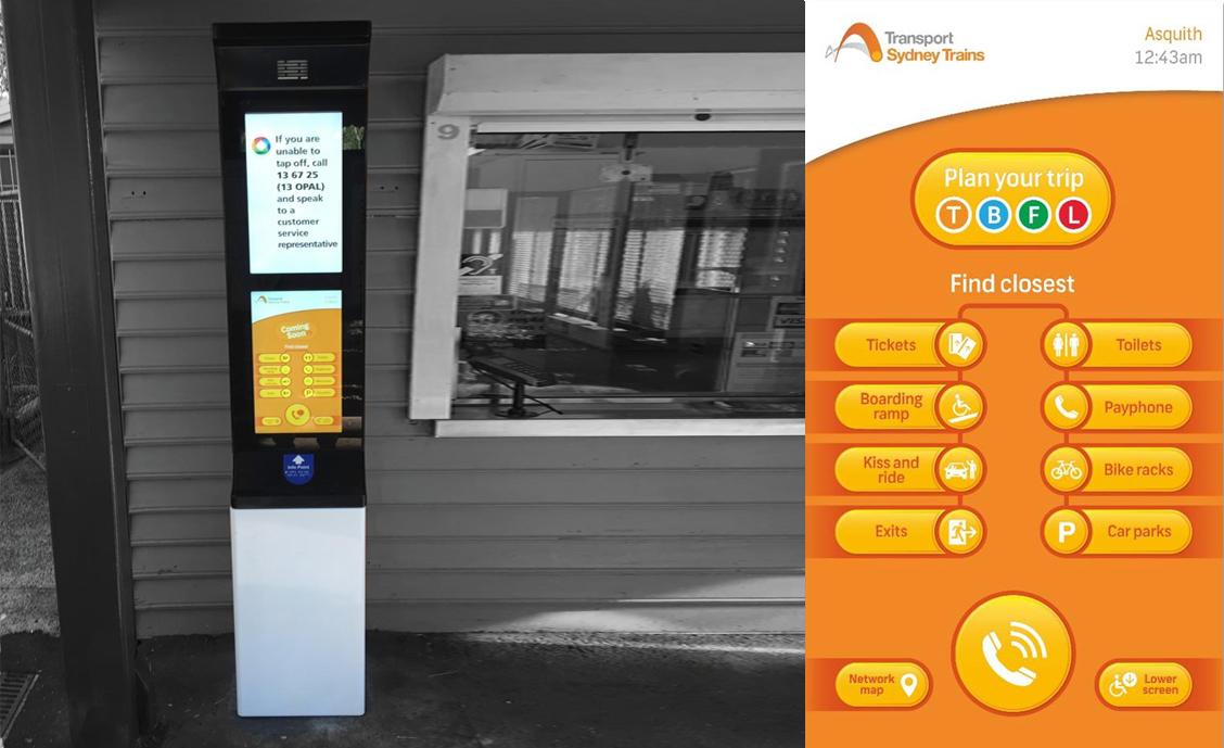 Sydney Trains kiosk