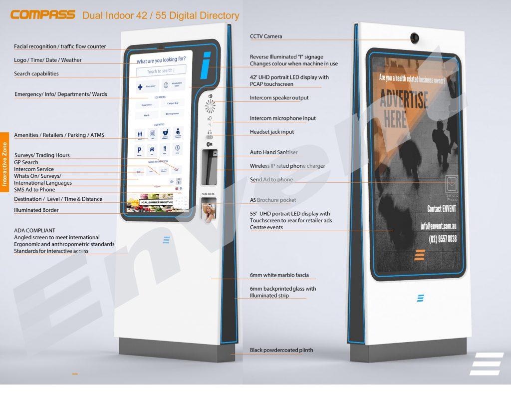 Dual Indoor 42/55 Digital Directory