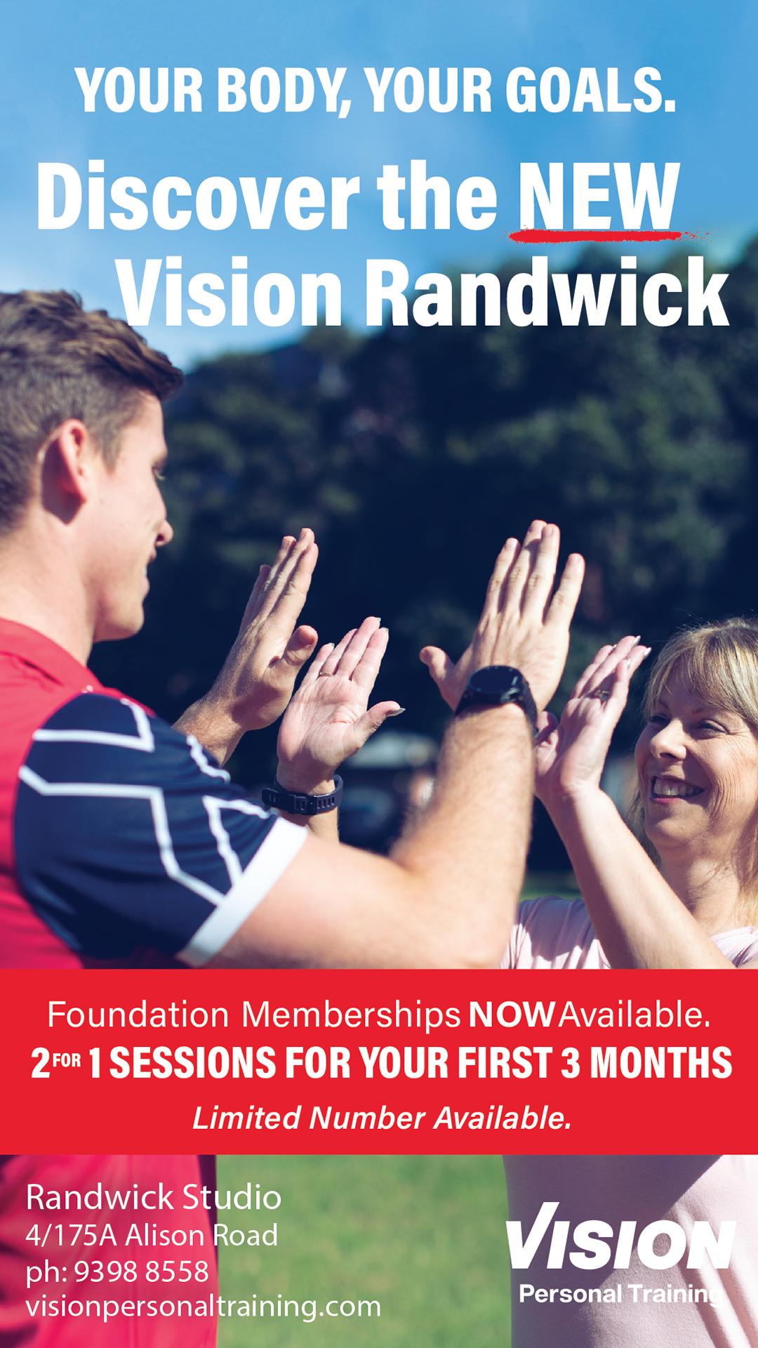Vision Randwick advertising at Prince of Wales